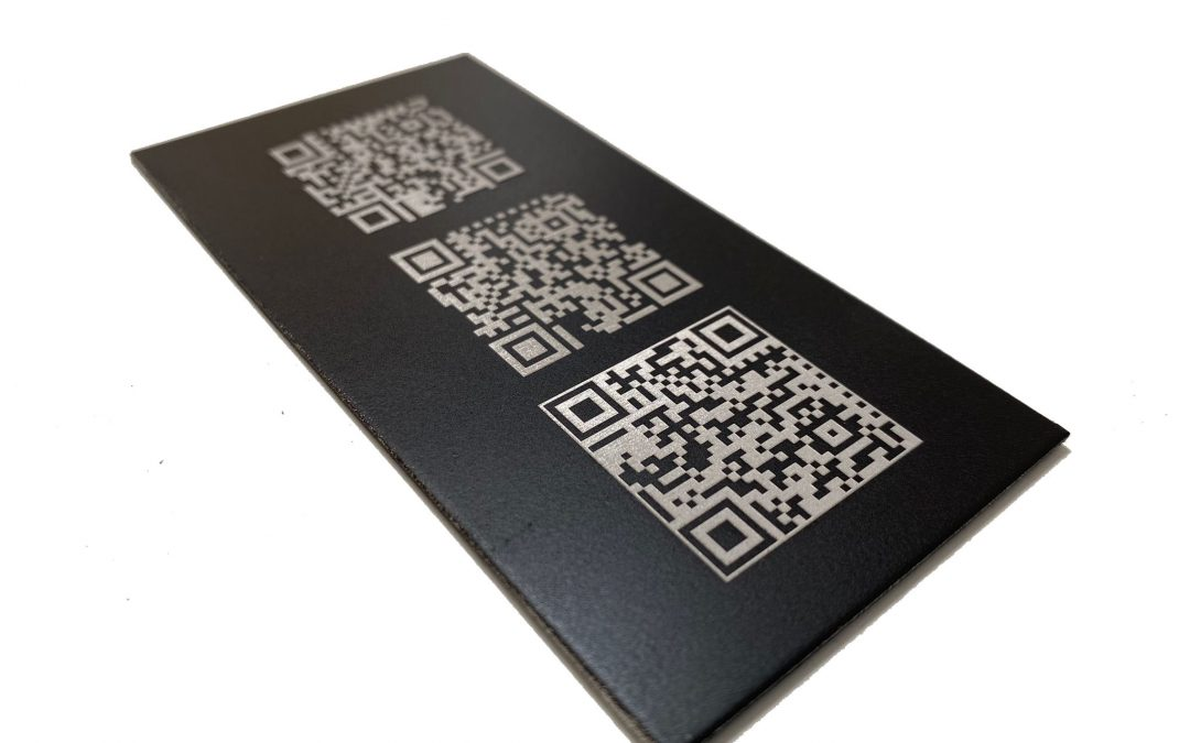 Marcatge permanent de codis QR amb làser